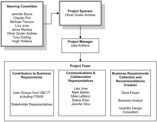 CCIS Project Team Diagram