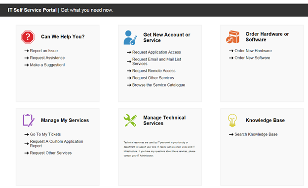get what you need with the it self service portal ubc information