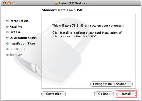 Mac OSX PGP WDE Setup   UBC Information Technology