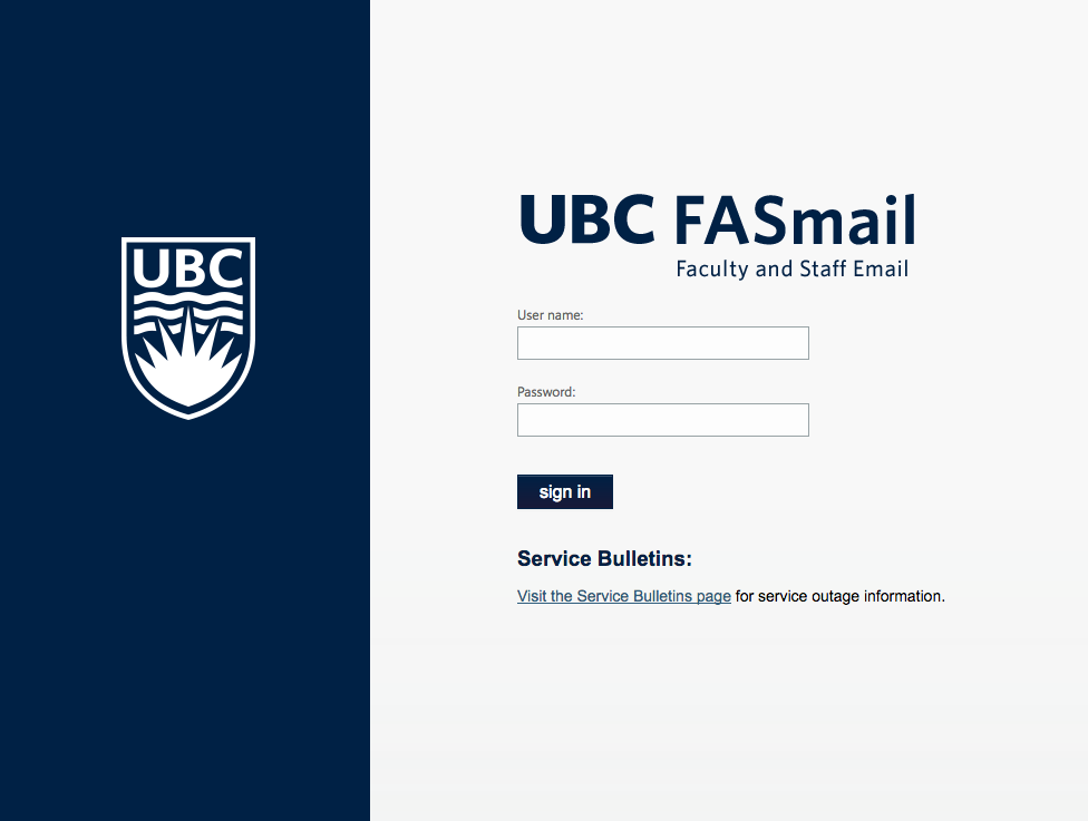 UBC Faculty & Staff Email (FASmail) Upgrade | UBC